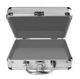 Opened Aluminum suitcase Royalty Free Stock Photography