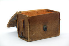 Opened antique pouch Royalty Free Stock Photography