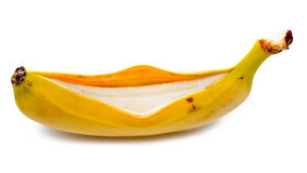 Opened banana Stock Image