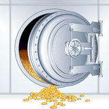 Opened Bank Storage Stock Photo