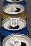 Opened Beer Cans Royalty Free Stock Image