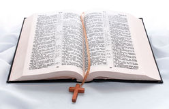 Opened bible book Royalty Free Stock Photo