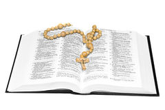Opened Bible with cross Royalty Free Stock Images