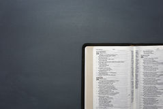 An Opened Bible Royalty Free Stock Photography