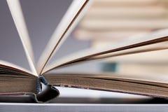 Opened big book Stock Photo