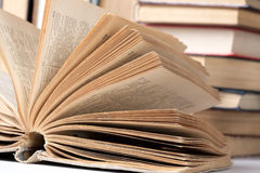 Opened big book Stock Photography