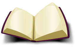 Opened Big Book Icon With Blank Pages Stock Image
