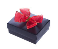Opened black gift box Stock Photo