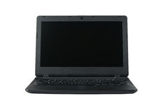 Opened black laptop Stock Photography