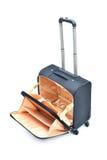 Opened Black suitcase Stock Image