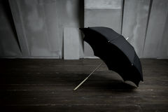 Opened black umbrella Royalty Free Stock Photos
