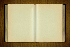 Opened Blank Book Stock Photography