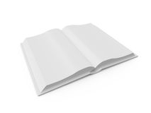 Opened Blank Book Stock Photo