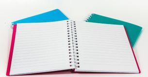 Opened Blank Lined Notebook Stock Image