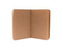 Opened blank note books - soft pages texture. Isolated on white royalty free stock image