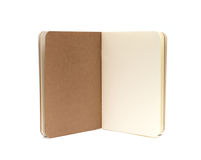 Opened blank note books - soft pages texture. Isolated on white stock photo