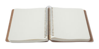 opened blank notebook Stock Photo