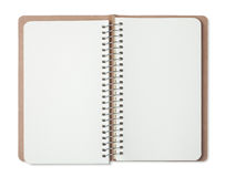 opened blank notebook Royalty Free Stock Photo