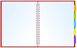 Opened blank notepad. Illustration of opened notepad which could be used as website layout Royalty Free Stock Photography