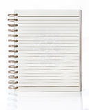 Opened blank page of notepad Royalty Free Stock Photos