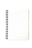 An opened blank ribbed notebook Stock Photo