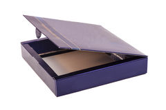 Opened blue box Royalty Free Stock Images