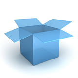 Opened blue box over white Royalty Free Stock Photo