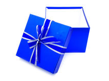 Opened Blue Gift Box Stock Photos