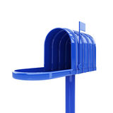 Opened blue mailbox Stock Image