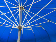 Opened Blue Umbrella Stock Photos