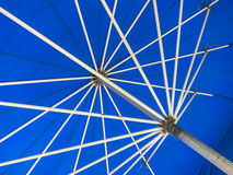 Opened Blue Umbrella Stock Photography