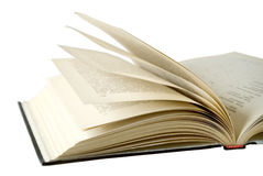 The opened book. On a white background. Pages old, turned yellow Stock Photography