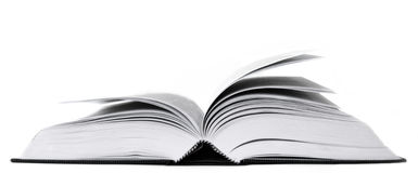 An opened book. Photograph of a book opened wide Stock Photos