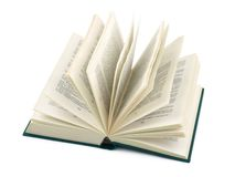 Opened book. Isolated on white background Royalty Free Stock Photos