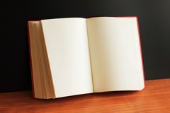 Opened book with blank pages Royalty Free Stock Photos