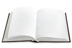 Opened book with blank pages Stock Photo