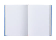 Opened book with blank pages isolated on white Royalty Free Stock Images