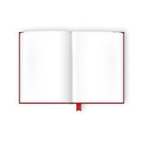 Opened Book With Blank Pages Stock Image