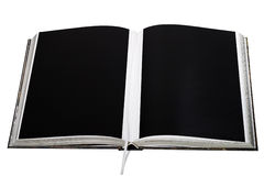 Opened book with clear black printed Royalty Free Stock Photo