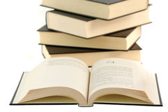 Opened book with decoration Royalty Free Stock Photos