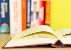Opened book on the desk royalty free stock images