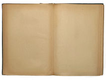 Opened book with empty pages. Isolated on white background Stock Photography