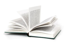 Opened book hard cover Stock Photography