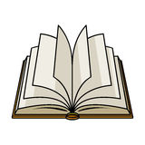 Opened book icon in cartoon style isolated on white background. Books symbol. Royalty Free Stock Images