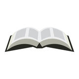 Opened book icon in a flat style  on a white background. Opened Bible symbol illustration. Stock Images