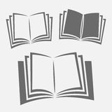 Opened book icons Stock Image
