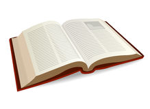 Opened Book. Illustration of an opened book Royalty Free Stock Photography