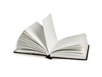 Opened book isolated on white background. Opened book isolated on white Royalty Free Stock Photography