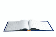 Opened book with lines. On white background Royalty Free Stock Image