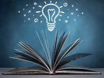 Opened book. Open a book for imagination of world wide and  knowledge Royalty Free Stock Photo